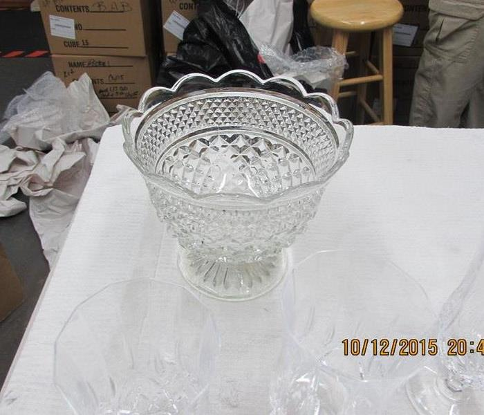 Memphis TN Glass Ware restored after House Fire After