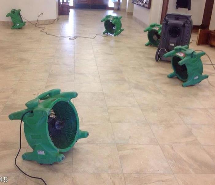 Air Movers used for Water Loss